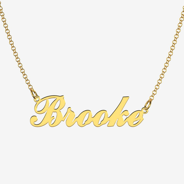 Brooke - Handmade Personalized Handwriting Style Name Necklace