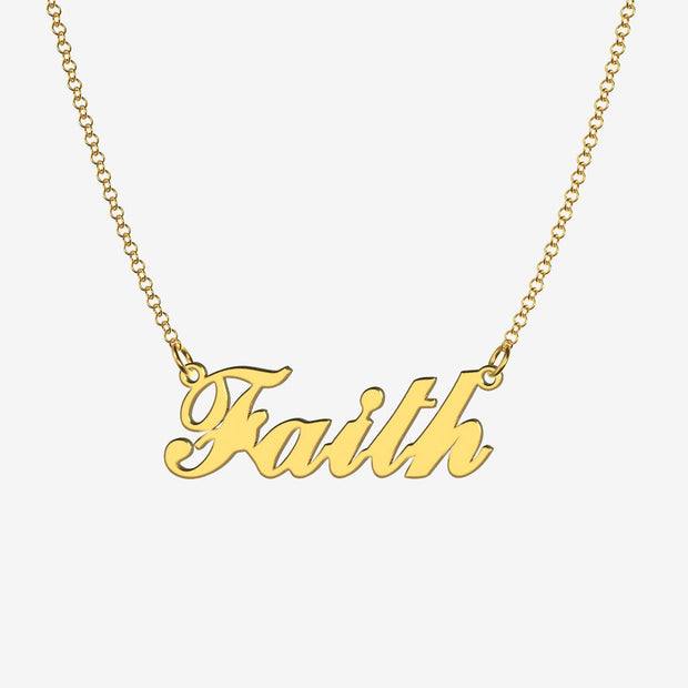 Faith - Handmade Personalized Handwriting Style Name Necklace