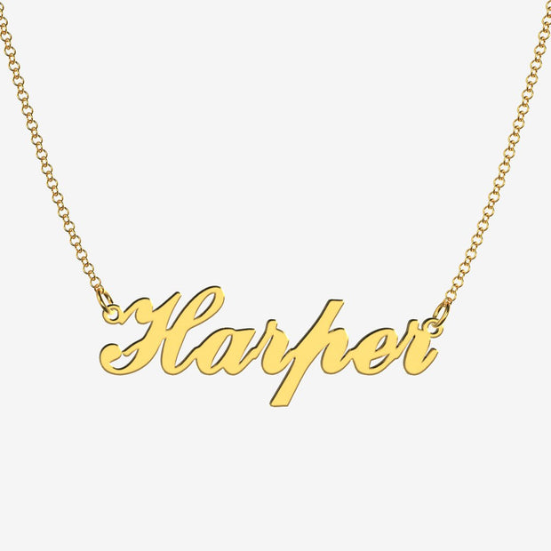 Harper - Handmade Personalized Handwriting Style Name Necklace