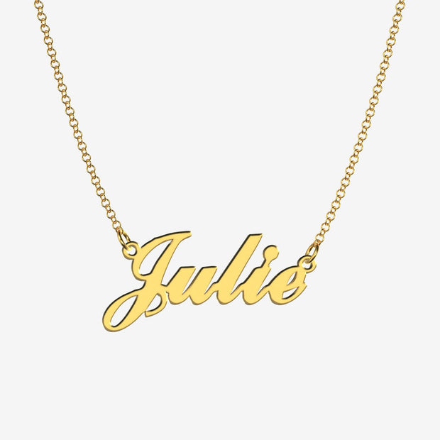 Julie - Handmade Personalized Handwriting Style Name Necklace