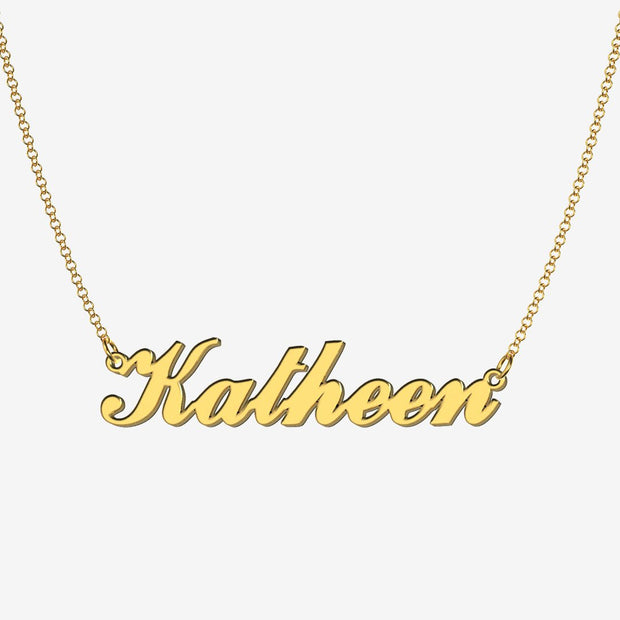 Katheen - Handmade Personalized Handwriting Style Name Necklace