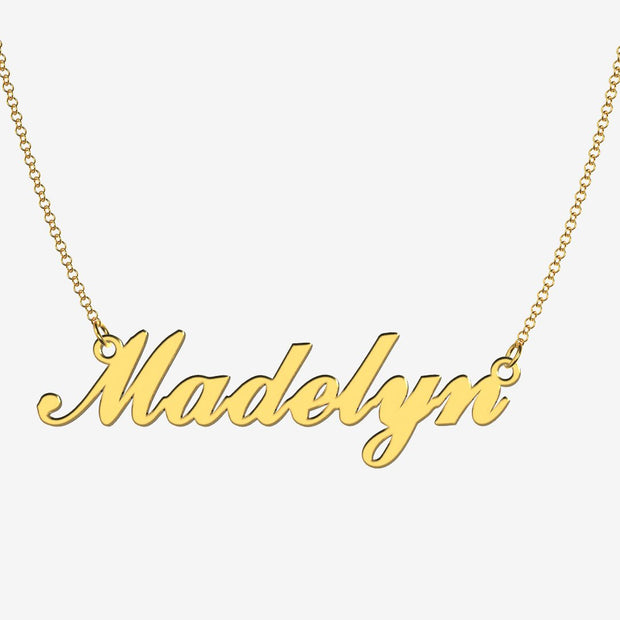 Madelyn - Handmade Personalized Handwriting Style Name Necklace