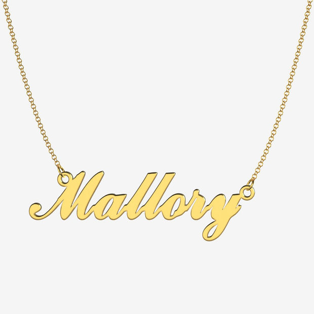 Mallory - Handmade Personalized Handwriting Style Name Necklace