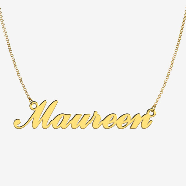 Mary - Handmade Personalized Handwriting Style Name Necklace