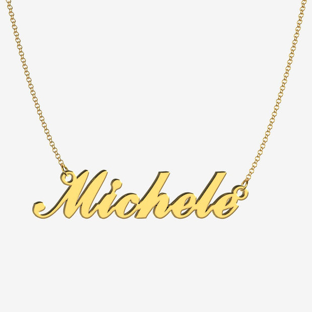 Michele - Handmade Personalized Handwriting Style Name Necklace