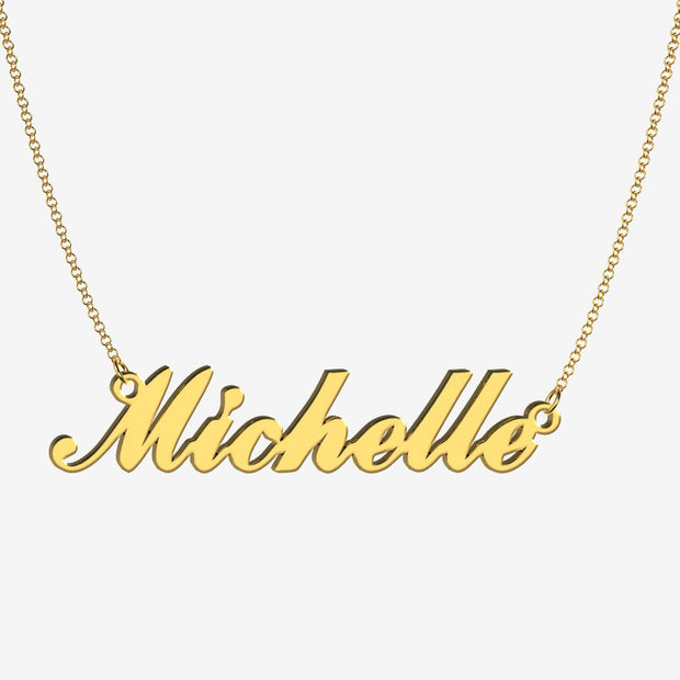 Michelle - Handmade Personalized Handwriting Style Name Necklace