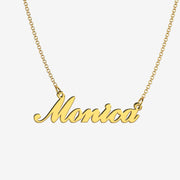 Monica - Handmade Personalized Handwriting Style Name Necklace