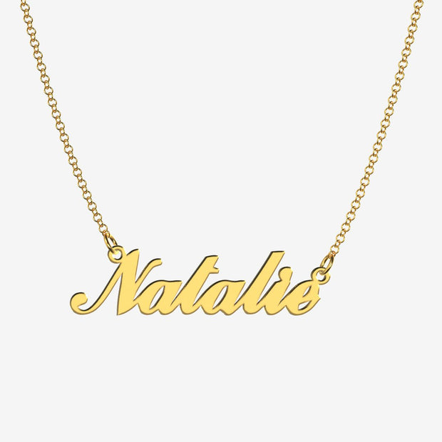 Natalie - Handmade Personalized Handwriting Style Name Necklace