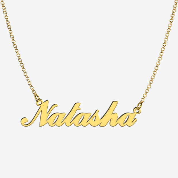 Natasha - Handmade Personalized Handwriting Style Name Necklace
