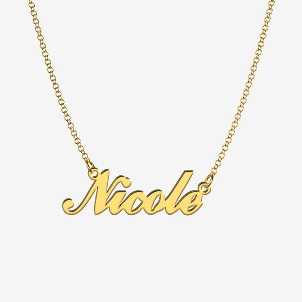 Nicole - Handmade Personalized Handwriting Style Name Necklace