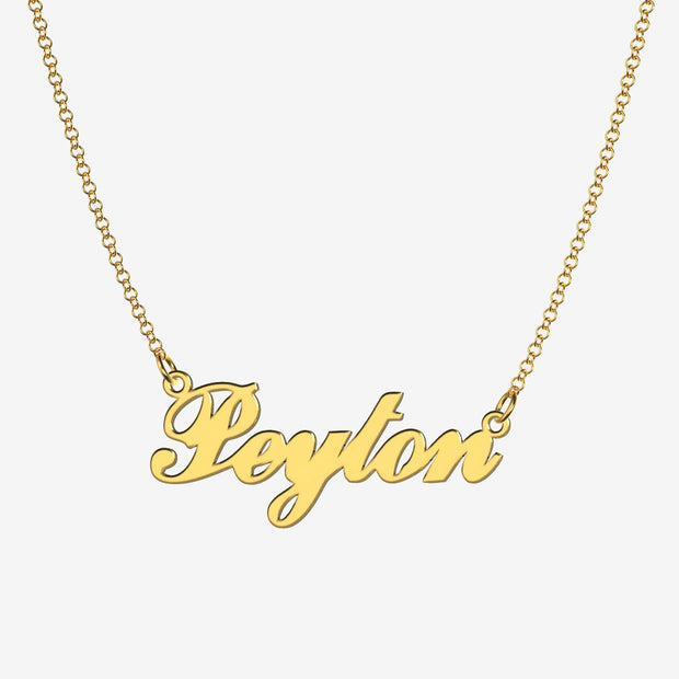 Peyton - Handmade Personalized Handwriting Style Name Necklace
