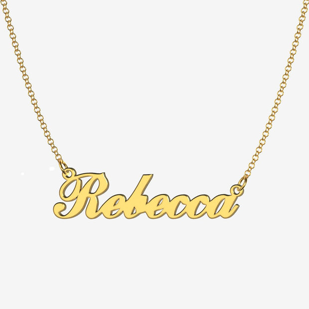 Rebecca - Handmade Personalized Handwriting Style Name Necklace