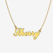 Sherry - Handmade Personalized Handwriting Style Name Necklace