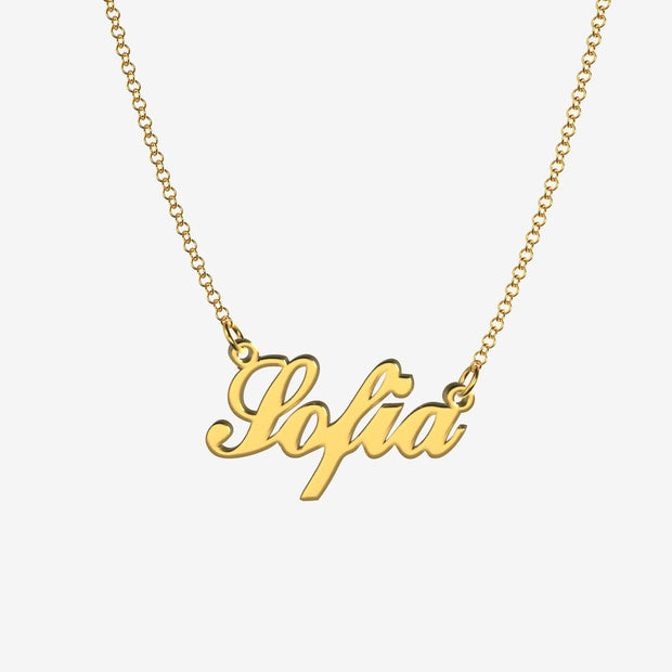 Sofia - Handmade Personalized Handwriting Style Name Necklace