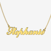 Stephanie - Handmade Personalized Handwriting Style Name Necklace