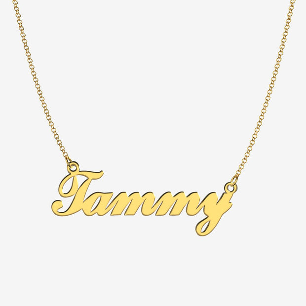 Tammy - Handmade Personalized Handwriting Style Name Necklace