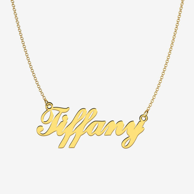 Tiffany - Handmade Personalized Handwriting Style Name Necklace