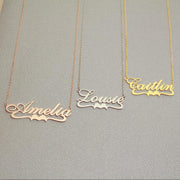 Norma - Handmade Personalized Ribbon Style Name Necklace