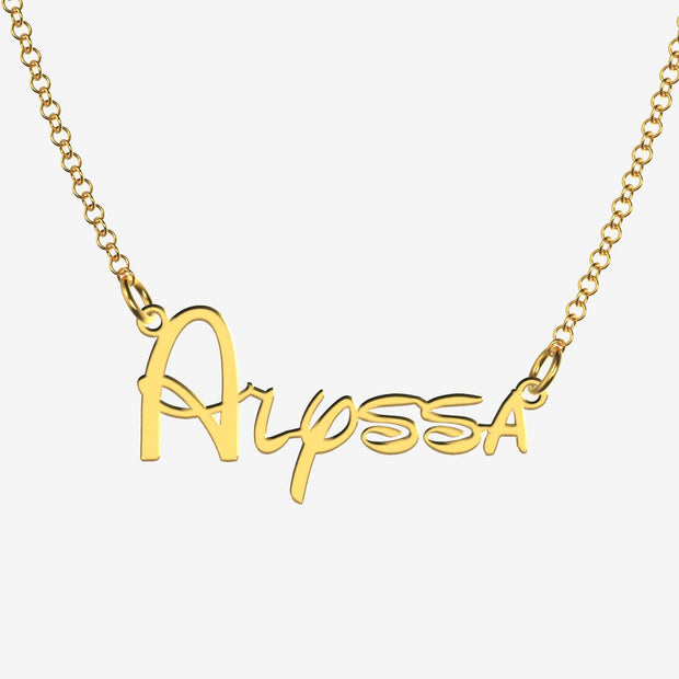 Alyssa - Handmade Personalized Princess Style Name Necklace