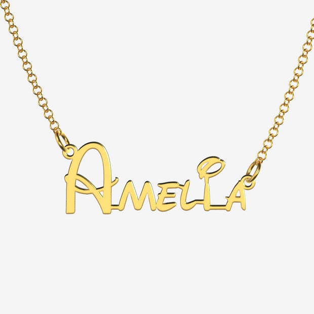 Amelia - Handmade Personalized Princess Style Name Necklace