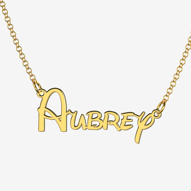 Aubrey - Handmade Personalized Princess Style Name Necklace