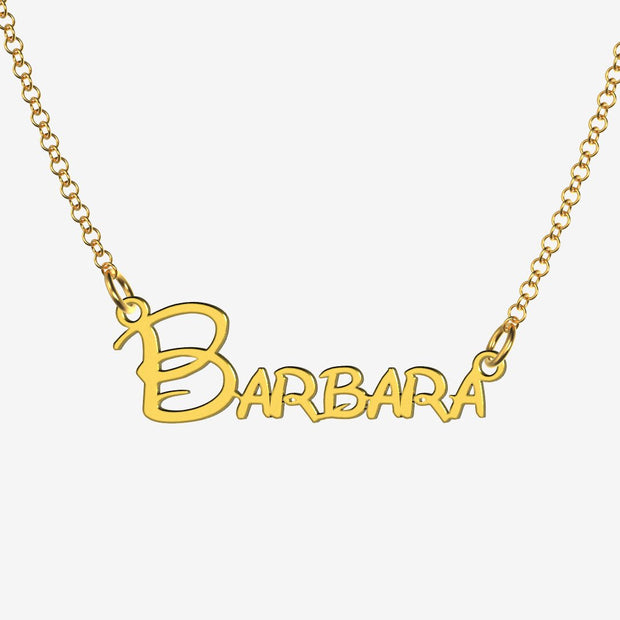 Barbara - Handmade Personalized Princess Style Name Necklace