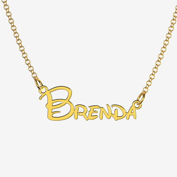Brenda - Handmade Personalized Princess Style Name Necklace