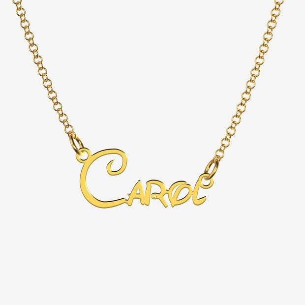 Carol - Handmade Personalized Princess Style Name Necklace