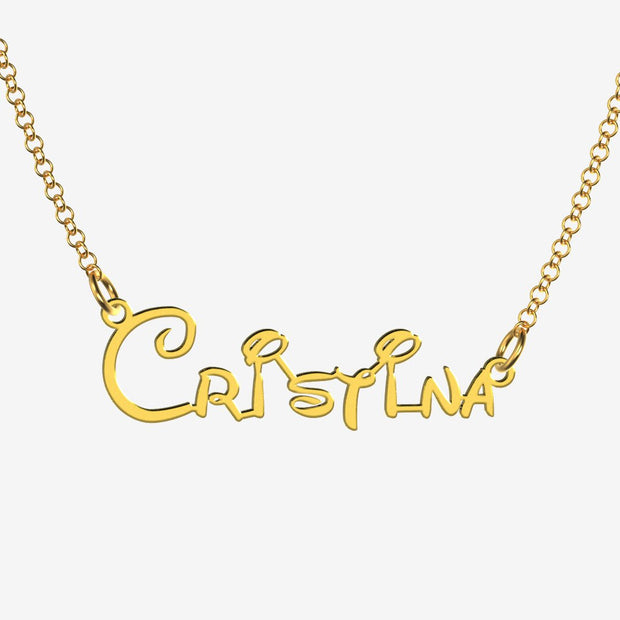 Cristina - Handmade Personalized Princess Style Name Necklace
