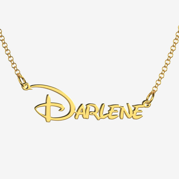 Darlene - Handmade Personalized Princess Style Name Necklace