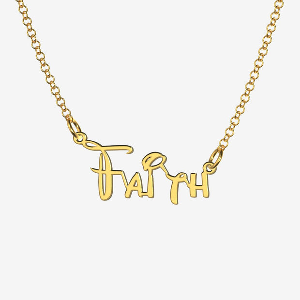 Faith - Handmade Personalized Princess Style Name Necklace