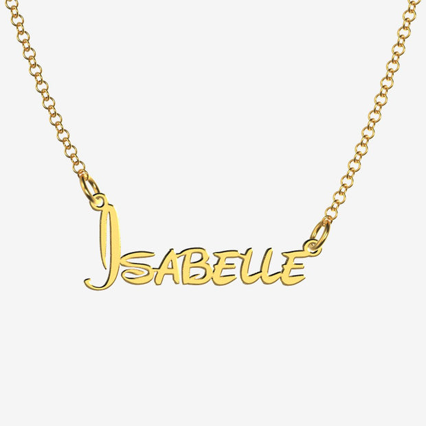Isabelle - Handmade Personalized Princess Style Name Necklace