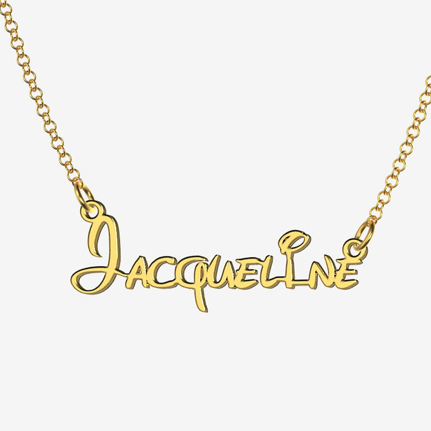 Jacqueline - Handmade Personalized Princess Style Name Necklace