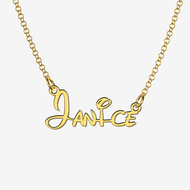 Janice - Handmade Personalized Princess Style Name Necklace