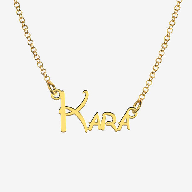 Kara - Handmade Personalized Princess Style Name Necklace