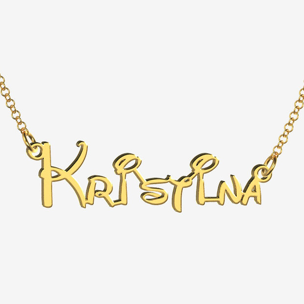 Kristina - Handmade Personalized Princess Style Name Necklace