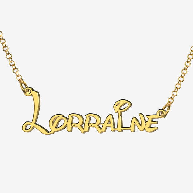 Lorraine - Handmade Personalized Princess Style Name Necklace