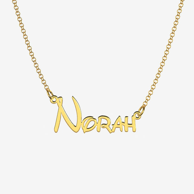 Norah - Handmade Personalized Princess Style Name Necklace