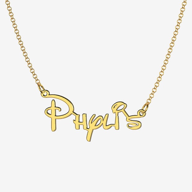 Phylis - Handmade Personalized Princess Style Name Necklace