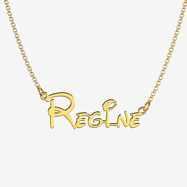 Regine - Handmade Personalized Princess Style Name Necklace
