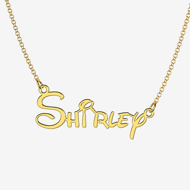 Shirley - Handmade Personalized Princess Style Name Necklace