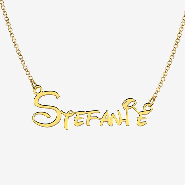 Stefanie - Handmade Personalized Princess Style Name Necklace