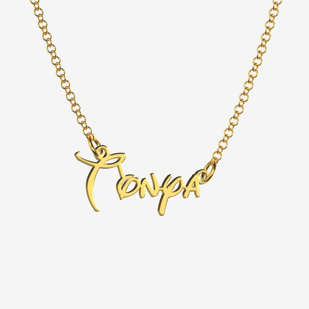 Tonya - Handmade Personalized Princess Style Name Necklace