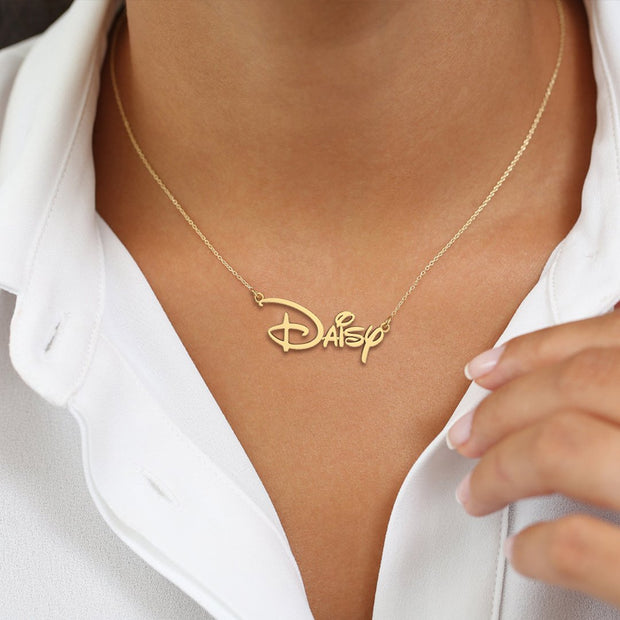 Emma - Handmade Personalized Princess Style Name Necklace