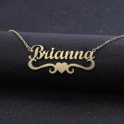 Samantha - Handmade Personalized heart Style Name Necklace