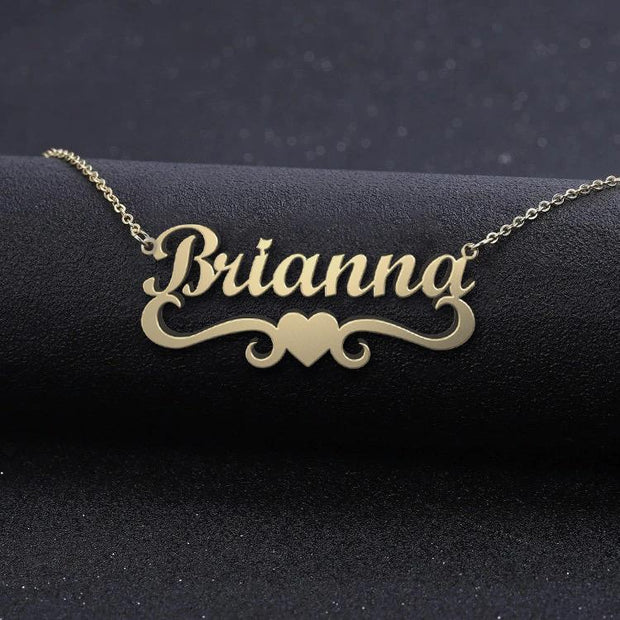 Riley - Handmade Personalized heart Style Name Necklace