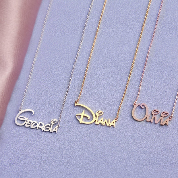 Aubree - Handmade Personalized Princess Style Name Necklace