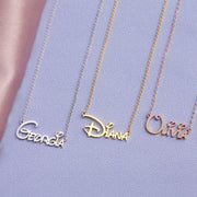Delaney - Handmade Personalized Princess Style Name Necklace