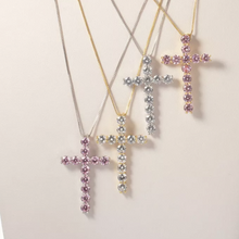 Load image into Gallery viewer, PINK Religious Diamond Cross