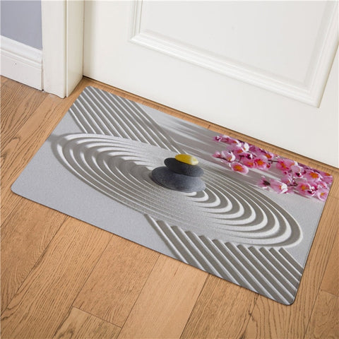 Tapis Bouddha <br> Galets Spirale